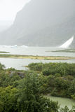 USA Alaska - Mendenhall Glacier and Lake Royalty Free Stock Photos