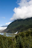 USA Alaska - Mendenhall Glacier and Lake. USA Alaska, Tongass National Forest, Mendenhall Glacier Recreation Area, Nugget Falls, Travel destination Royalty Free Stock Image