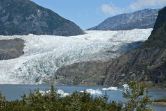 USA Alaska - Mendenhall Glacier and Lake. USA Alaska, Tongass National Forest, Mendenhall Glacier Recreation Area, Travel destination Royalty Free Stock Photos