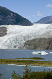 USA Alaska - Mendenhall Glacier and Lake Stock Photo