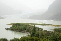 USA Alaska - Mendenhall Glacier and Lake Stock Images