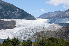 USA Alaska - Mendenhall Glacier. USA Alaska, Tongass National Forest, Mendenhall Glacier Recreation Area, Travel destination Royalty Free Stock Photo