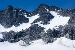 USA - Alaska - Rugged mountains. USA - Alaska - View of rugged snow covered mountains near Juneau Royalty Free Stock Photo