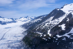 USA - Alaska Top of the Juneau Ice Field. USA - Alaska - Aerial view of rugged snow covered mountains near Juneau Royalty Free Stock Photo