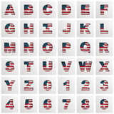 Usa alphabet Stock Photos