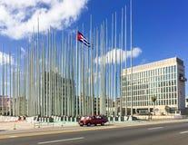 USA ambasada w Hawańskim Kuba Zdjęcie Stock