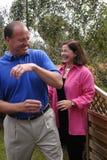 USA AMBASSADOR JAMES P.CAIN AND MRS.CAIN Stock Image