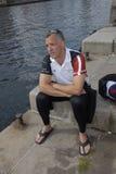 USA AMBASSADOR RUFUS GIFFORD pływanie 500 metrów Zdjęcie Royalty Free
