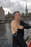 USA AMBASSADOR RUFUS GIFFORD pływanie 500 metrów Obraz Royalty Free