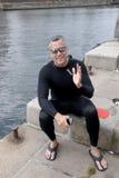 USA AMBASSADOR RUFUS GIFFORD pływanie 500 metrów Zdjęcia Royalty Free