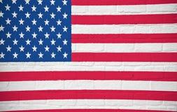 USA, america flag on brick wall Royalty Free Stock Photo