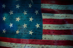 Usa America national anthem Star Spangled Banner Royalty Free Stock Images