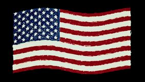 USA America pastel flag waving seamless loop new quality unique animated dynamic motion joyful colorful cool background stock footage