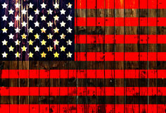 USA,America,United flag symbol national country background patriotic textile europe german Wooden fence Heart Stock Photo