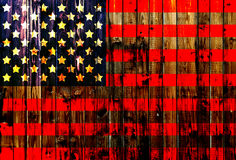 USA,America,United flag symbol national country background patriotic textile europe german Wooden fence Heart Royalty Free Stock Image