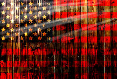 USA,America,United flag symbol national country background patriotic textile europe german Wooden fence Heart Stock Images
