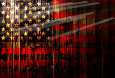 USA,America,United flag symbol national country background patriotic textile europe german Wooden fence Heart Royalty Free Stock Photos