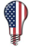 Usa american button flag lamp shape Stock Photos