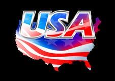 USA American flag on black background Royalty Free Stock Image