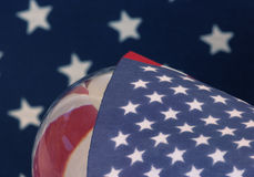 USA American flag global stars forward cover Stock Photography