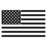 USA American flag icon black and white Royalty Free Stock Photography