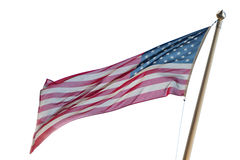 Usa American flag isolated on white background Stock Photo