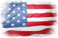 USA. American flag on plain background Stock Photos