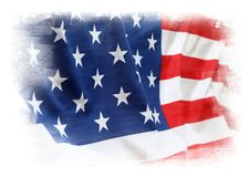 USA. American flag on plain background Royalty Free Stock Photos