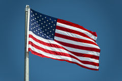 Usa American flag stars and stripes detail. Usa American flag stars and stripes while weaving Royalty Free Stock Image