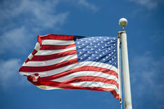 Usa American flag stars and stripes detail Stock Photos