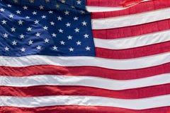 Usa American flag stars and stripes detail. Usa American flag stars and stripes while weaving Stock Photo