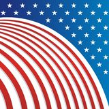 USA - American flag Vector background, new and modern design. USA - American flag Vector background. suitable for greeting card, banner, flyer, poster and others stock illustration