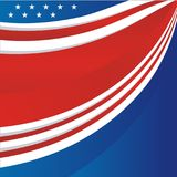 USA - American flag Vector background, new and modern design. USA - American flag Vector background. suitable for greeting card, banner, flyer, poster and others Royalty Free Stock Images