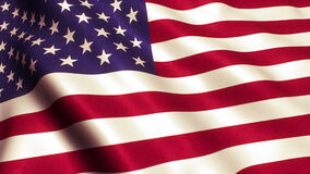 USA American Flag Video 4K stock footage