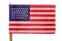 USA. American flag on white background Stock Photos