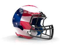 USA american football helmet Royalty Free Stock Photo