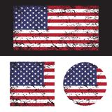 USA American grunge flag set, illustration. royalty free illustration