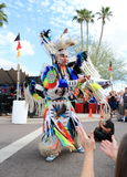USA: American Indian Performing a Fancy Feather Dance Stock Image