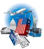 USA american landmarks Royalty Free Stock Photos