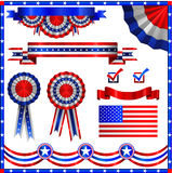 USA american patriotic elements. Independance day Stock Photos