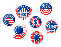 USA and american symbols Stock Images