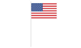 USA / Americans flag on stick. Royalty Free Stock Images