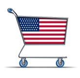 USA-amerikanisches Handelsbilanzdefizit importiert Schwerpunkt Stockfotos