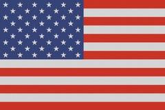 USA amerikansk nationsflagga på linnetextur stock illustrationer