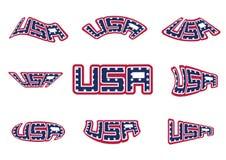 USA Ameryka gwiazdy I lampasa Chorągwiany abecadło Patriotyczny Świętują sztandar kolekcję royalty ilustracja