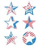 USA Ameryka Patriotyczny Wakacyjny świętowanie Gra główna rolę symbolu set royalty ilustracja