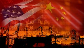 Free USA And China Trade War Economy Conflict Tax Business Finance Money / United States Raised Taxes On Imports Of Goods From China On Stock Image - 147870791