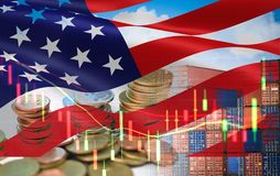 Free USA And China Trade War Economy Recession Conflict Tax Business Finance Money Coins - United States Raised Taxes On Imports China Stock Photos - 166130123