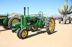 USA: Antique Tractor - John Deere Model B (1937) Royalty Free Stock Image