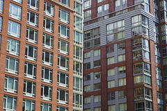 USA. Apartment buildings in New York City - USA Royalty Free Stock Image